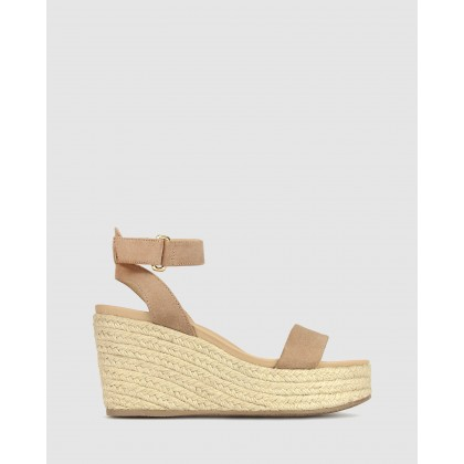 Kayla Wedge Sandals Blush by Betts