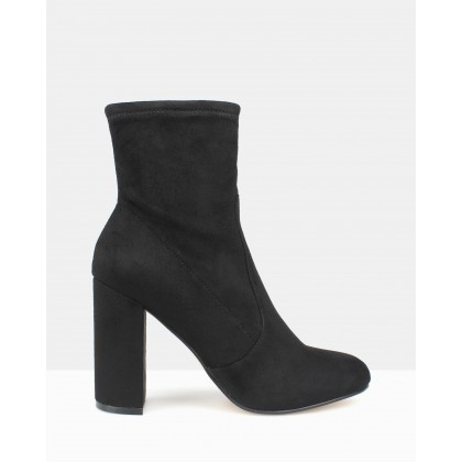 Ginger Sock Boots Black by Betts