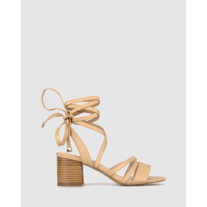Malone Block Heel Sandals Nude by Betts