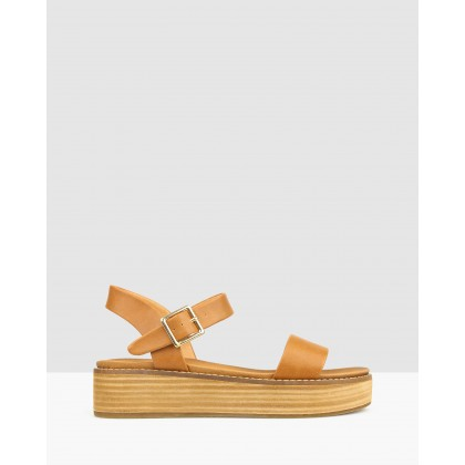 Renegade Flatform Sandals Tan by Betts