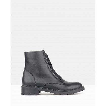 Dancer Combat Boots Black by Betts