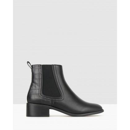 Destiny Block Heel Chelsea Boots Black by Betts