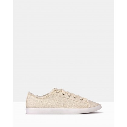 Jezz Lace Up Sneakers Natural by Betts