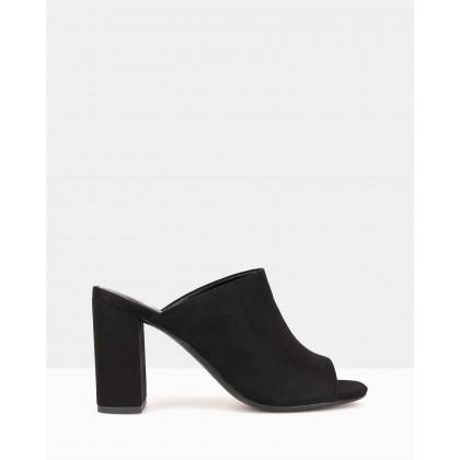 Mila Block Heel Mules Black by Betts