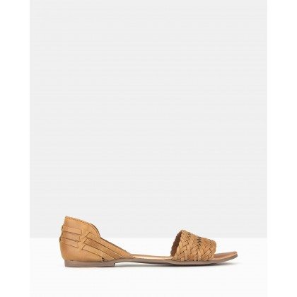 Fiji Woven Leather D?Orsay Sandals Tan by Aldo