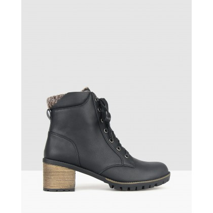Kokoda Combat Ankle Boots Black by Betts