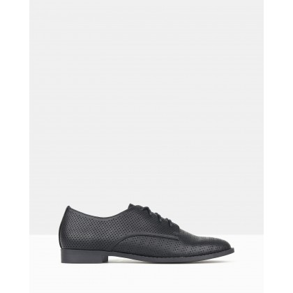 Manny Perforated Lace-Up Shoes Black by Betts