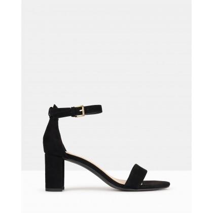 Seduce Low Block Heels Black by Betts