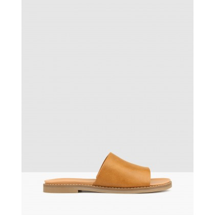 Abbey Slip-On Slides Tan by Betts