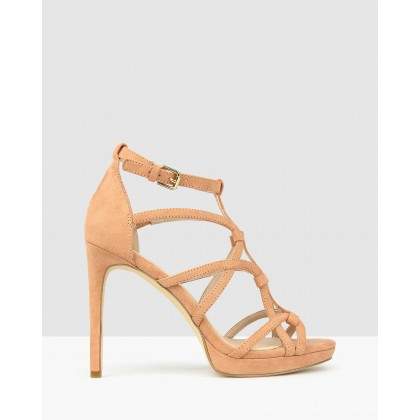 Conspire Stiletto Dress Sandals Dusty Pink by Betts