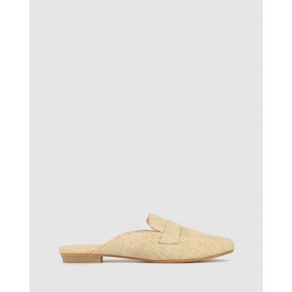 Gil Linen Slip On Loafers Ecru by Betts