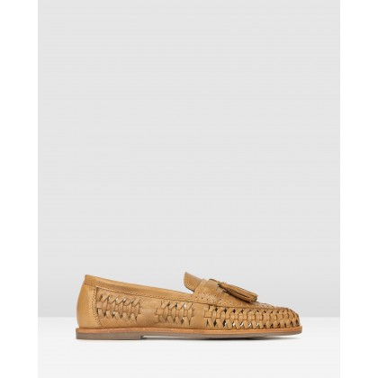 Lad Woven Leather Loafers Tan by Betts