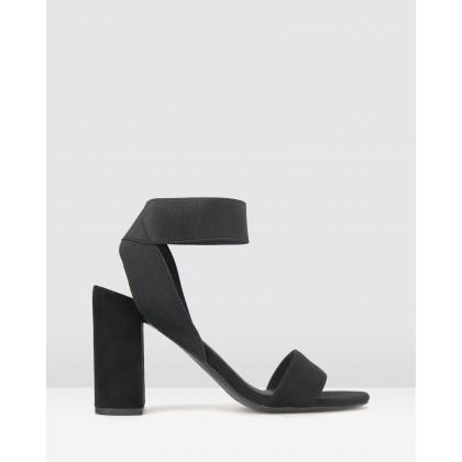 Kira Block Heel Sandals Black by Betts