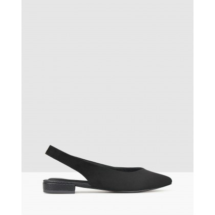 Adventure Slingback Flats Black by Betts