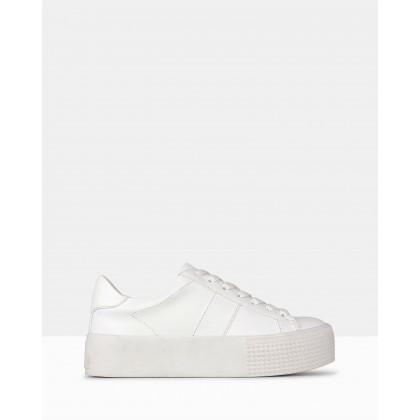 Weekend Flatform Sneakers White by Betts