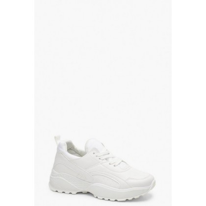 Chunky Dad Trainers in White