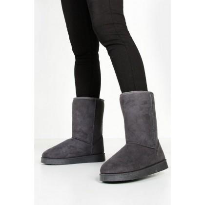 Short Cosy Boots in Grey