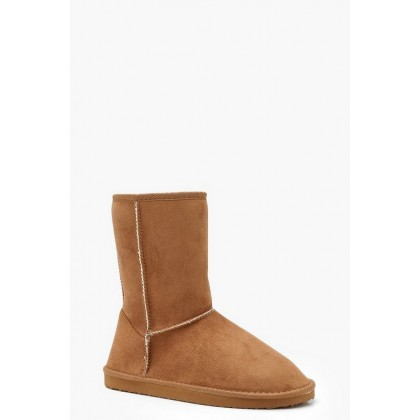 Cosy Shoe Boots in Tan