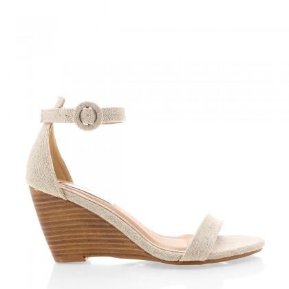 Agari Natural Linen/Nat by Billini Shoes