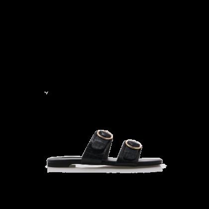 Alaia - Black Croc by Billini Shoes