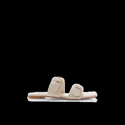 Alaia - White Clay Croc by Billini Shoes