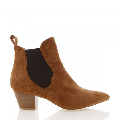 Basta Chestnut Suede by Billini Shoes
