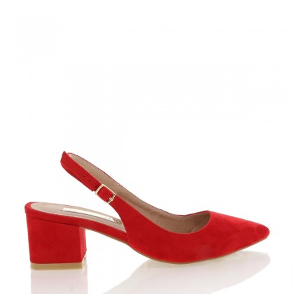Brooke Red Suede by Billini Shoes