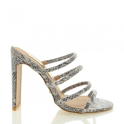 Daciana White Reptile by Billini Shoes