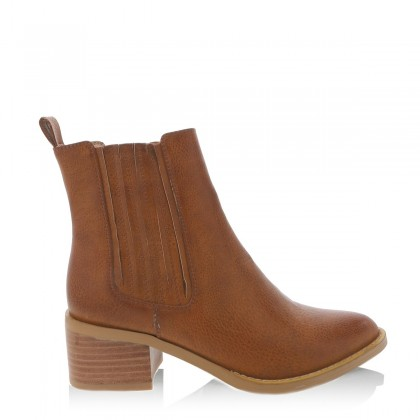Eamon Dark Tan Burnished by Billini Shoes