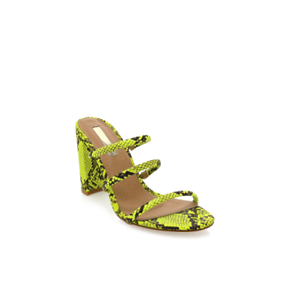 Elida - Neon Yellow Snake by Billini Shoes