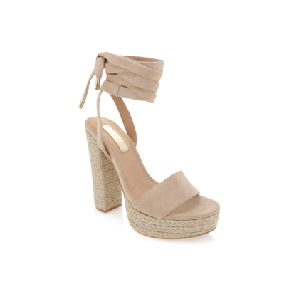 Emilie - Nude Suede by Billini Shoes