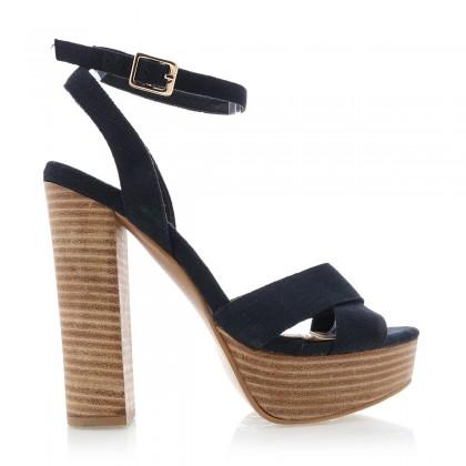 Eva Black Linen by Billini Shoes