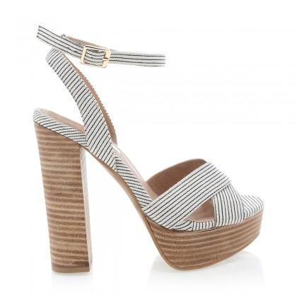 Eva Black/White Stripe by Billini Shoes