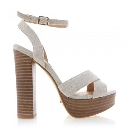 Eva Natural Linen by Billini Shoes