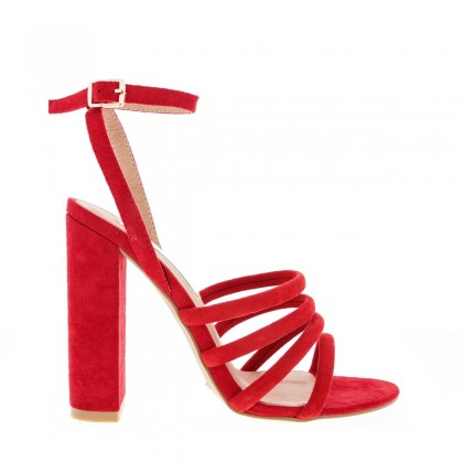 Frida Red Suede by Billini Shoes