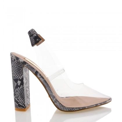 Givara Black/White Snake by Billini Shoes
