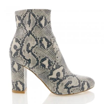 Halsey Cream/Grey Snake by Billini Shoes