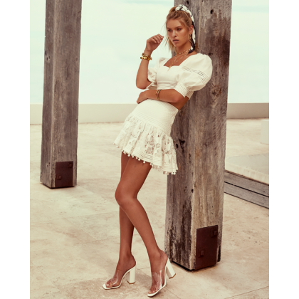 Honore - White by Billini Shoes