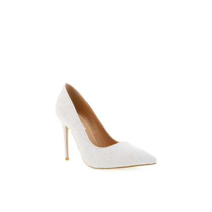 Indra - White Glitter by Billini Shoes