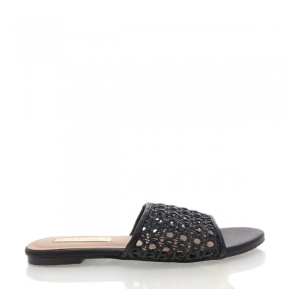 Inez Black Rattan by Billini Shoes