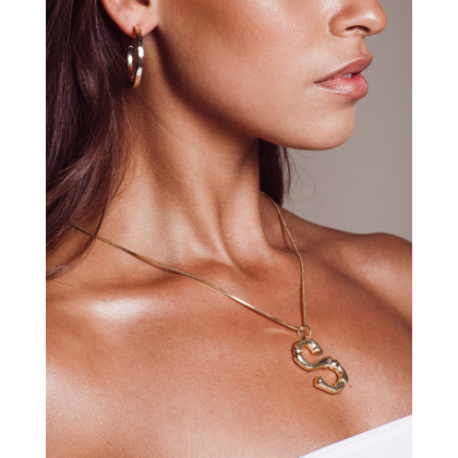Initial Necklace - Gold by Billini Shoes