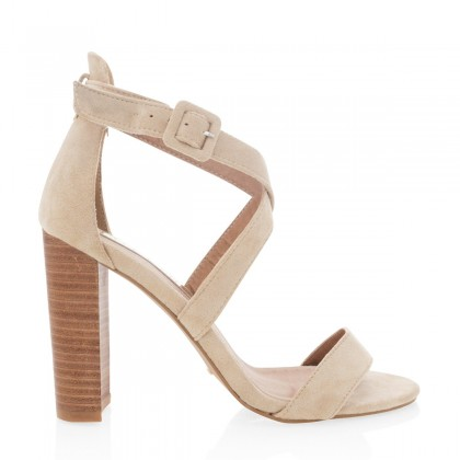 Nude Suede  by Billini Shoes