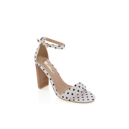 Jessa - White/Black Spot by Billini Shoes