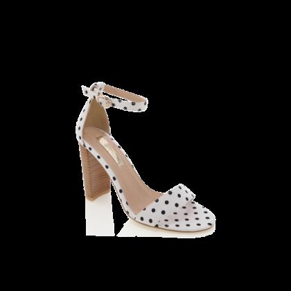 Jessa - White/Black Spot by Billini Shoes