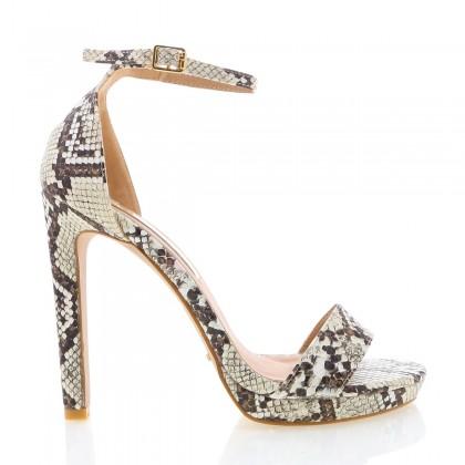 Kepos Cream Snake by Billini Shoes