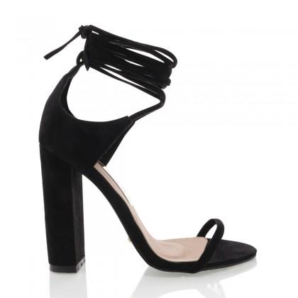 Lala Black Suede by Billini Shoes