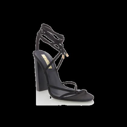 Lana - Black Linen by Billini Shoes