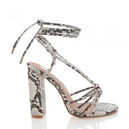 Lazio Cream Snake by Billini Shoes