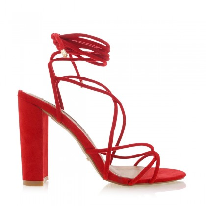 Lula Red Suede by Billini Shoes