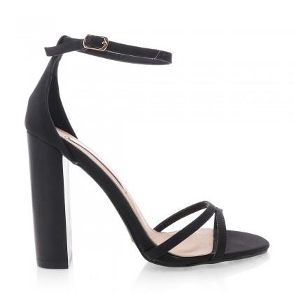 Lulu Black Nubuck/Black by Billini Shoes